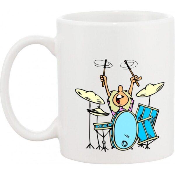 Taza musical baterista