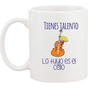 Taza musical cello