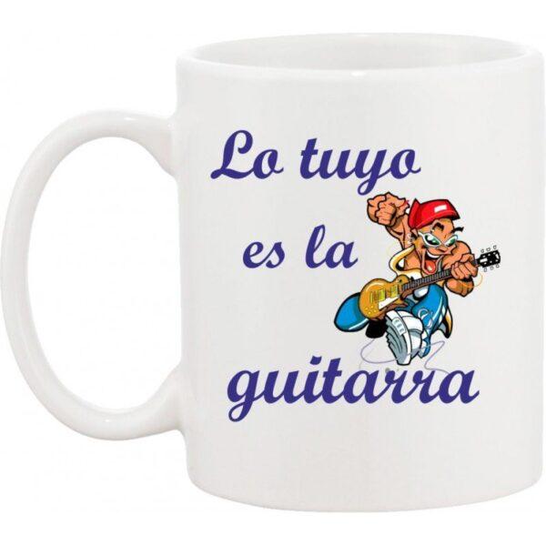Taza musical guitarrista rock