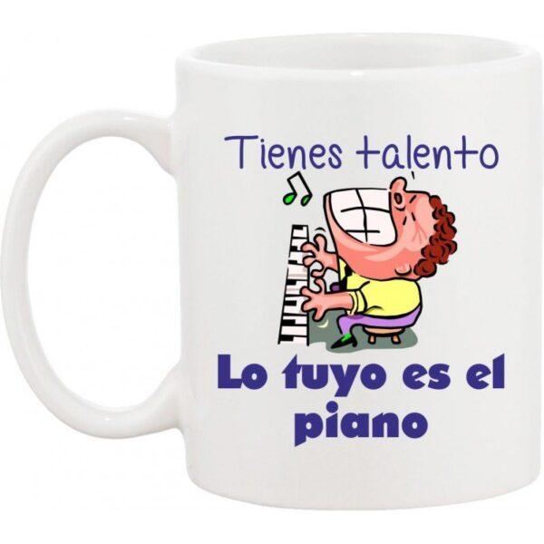 Taza musical pianista